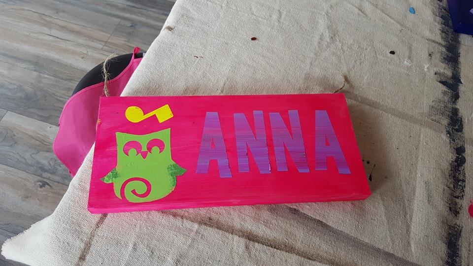 DIY Name Plank