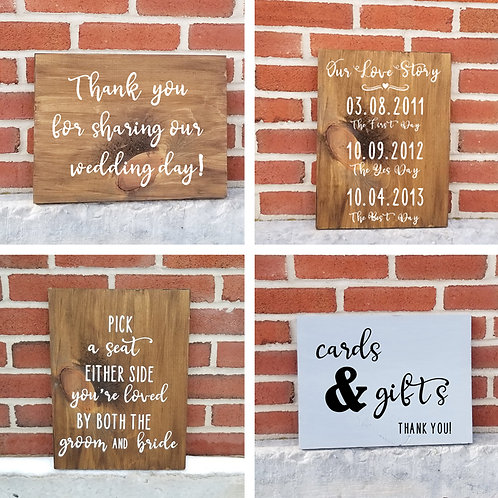 Shipped - Must-Have Wedding Signs