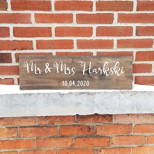 Shipped - Head Table Couple Sign