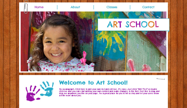 Community & Education website templates – Kids Art