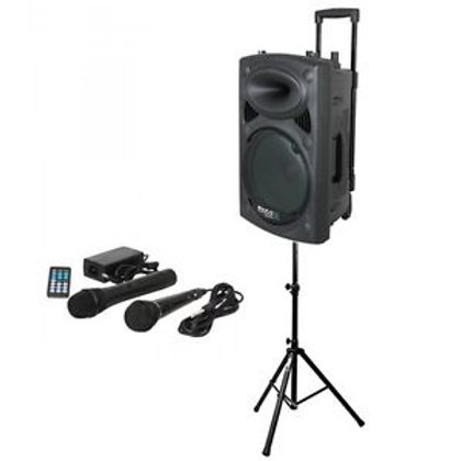Portable Speaker with stand & mics