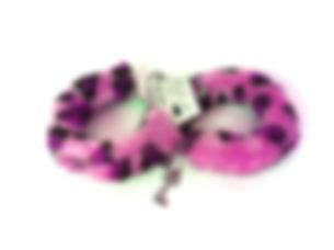 Pink Leopard Print Handcuffs