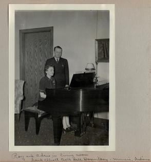 Roy and Adris at piano
