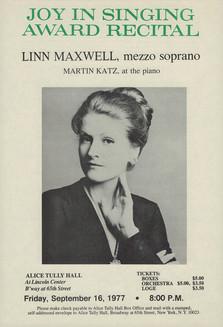 Joy In Singing Award 1977