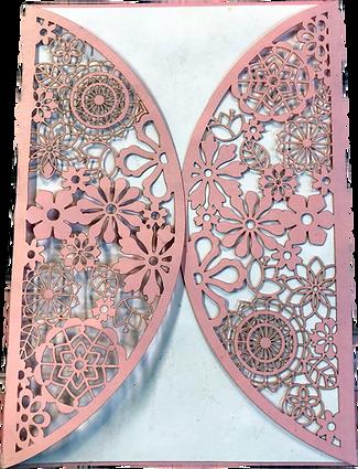 Very ornate Wedding Invitation cover.