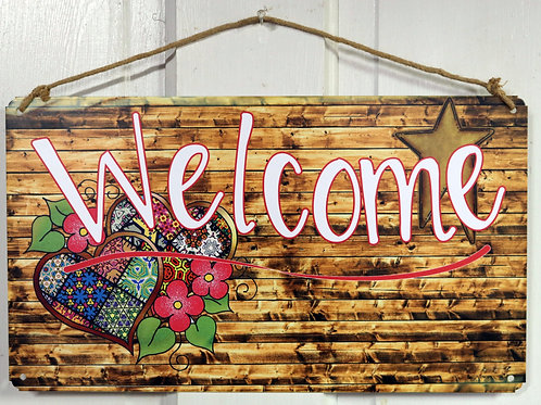 Cute Tin Welcome Sign