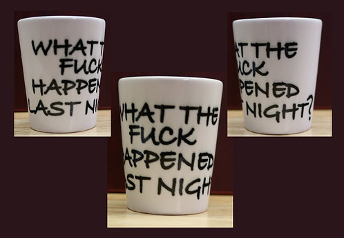 Shot Glass with a Question