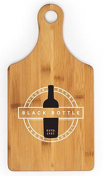 bwb1 Bamboo Wine Bottle Shaped Cutting B