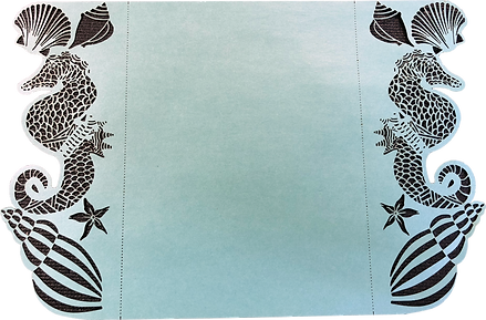 Designed and cut an Ocean Themed Wedding Invitation Cover.
