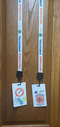 Vaccination Lanyard & Badge