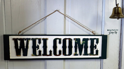 Carved Welcome Sign