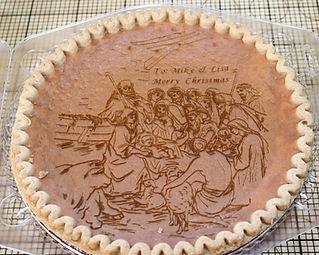 Engraved Pumkin Pie