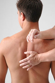 Rolfing can help realign the shoulder blades to improve mobility and ease pain.