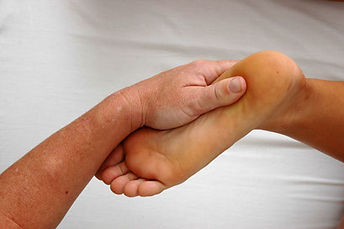 Rolfing the feet can ease pain and sometimes shift how we stand and walk.