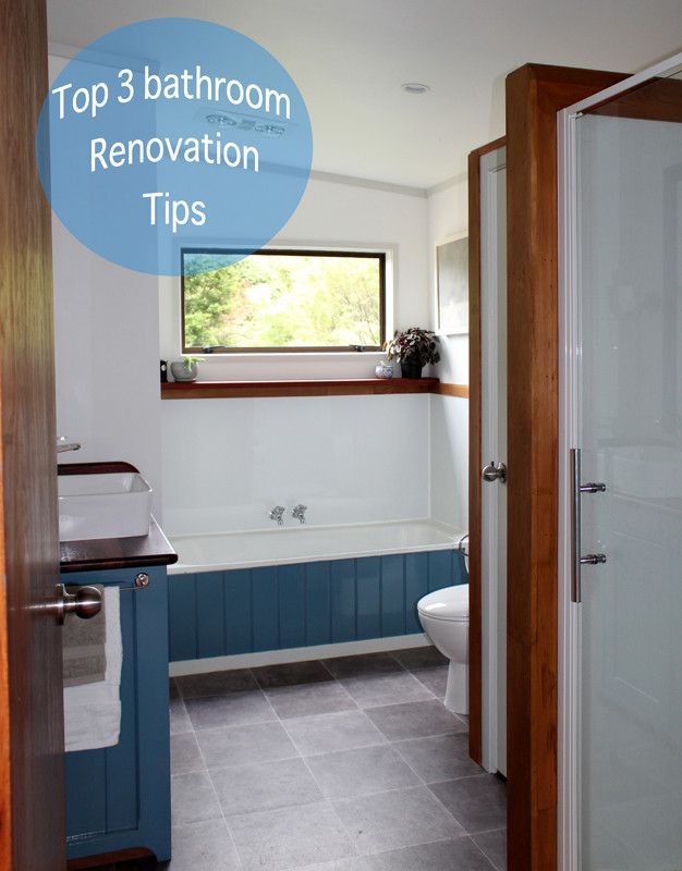 Bathroom renovation and reconfiguration design and building work carried out by Inti Construction. Quality Building   Far North, NZ.