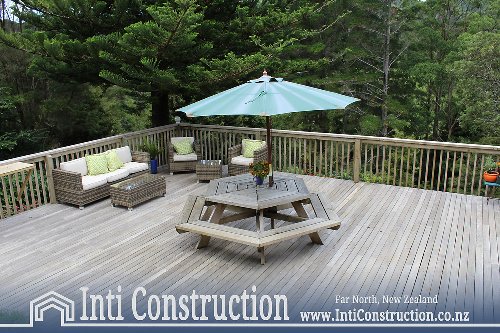 Inti Construction | Quality Building | Far North, NZ large deck