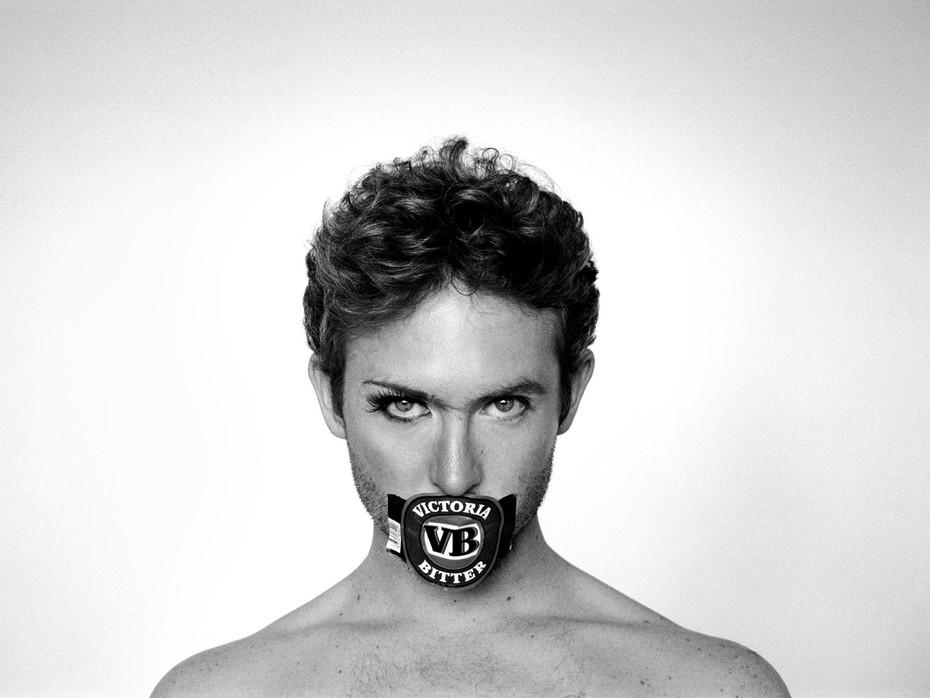 Liam Benson VB Sticker, 2005 61x91cm photographed by Naomi Oliver