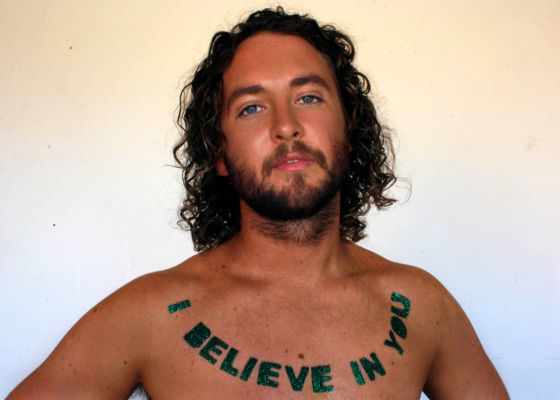 Liam Benson I BELIEVE IN YOU, 2007 61x91cm photograph assisted by Anastasia Zaravinos