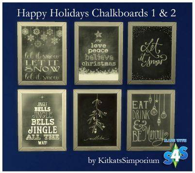 Happy Holidays Chalkboards