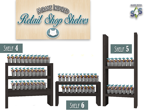 Retail Shop Shelves - 3 New & 3 Updated