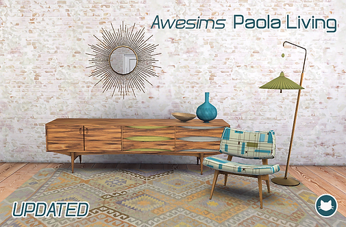 Awesims Paola Living  [3to4 Conversion]
