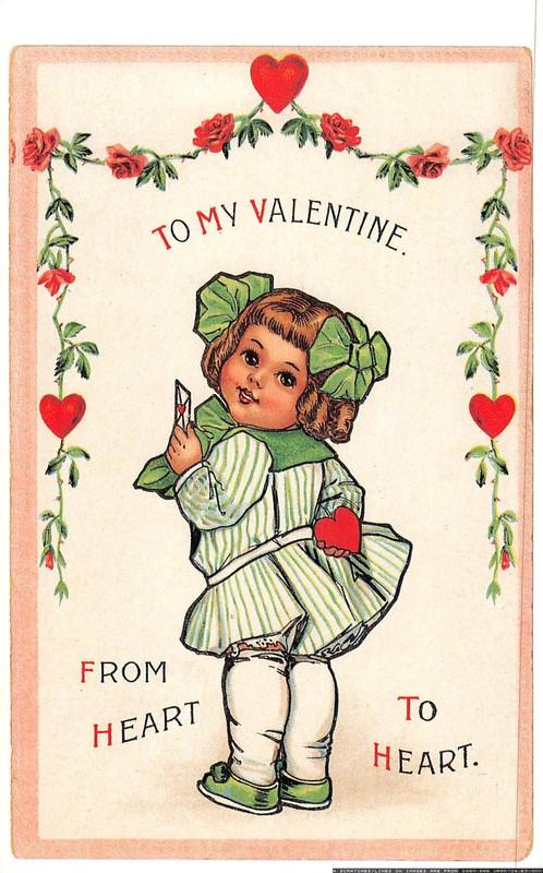 Vintage Valentines Post card (CRD)