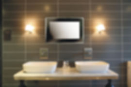 Aquavision bathroom in wall tv