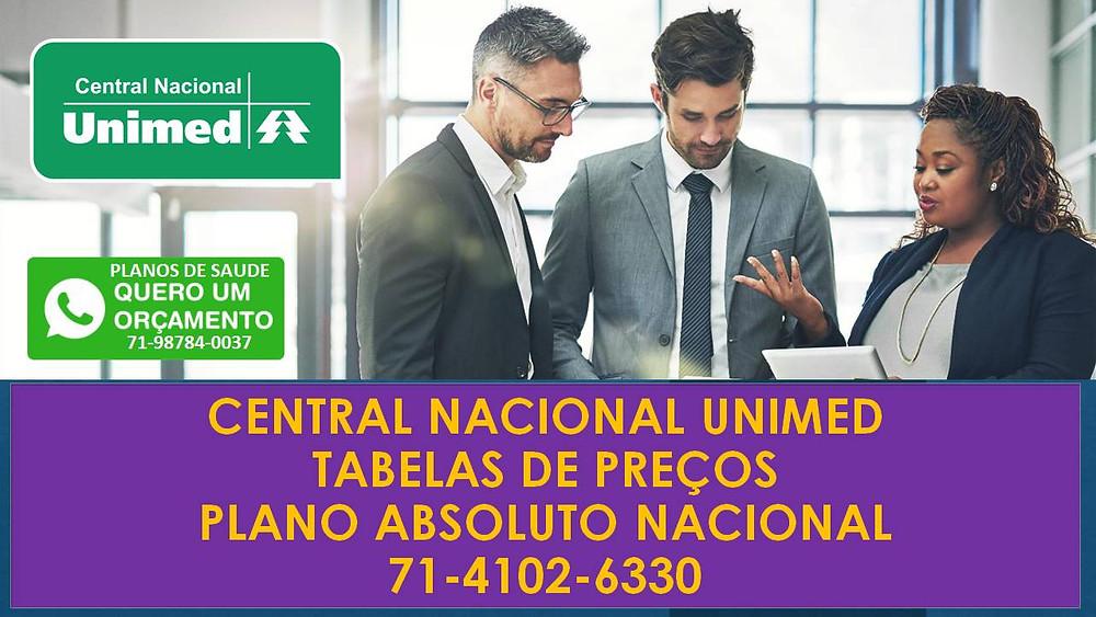 Central Nacional Unimed Tabelas Allcare BA