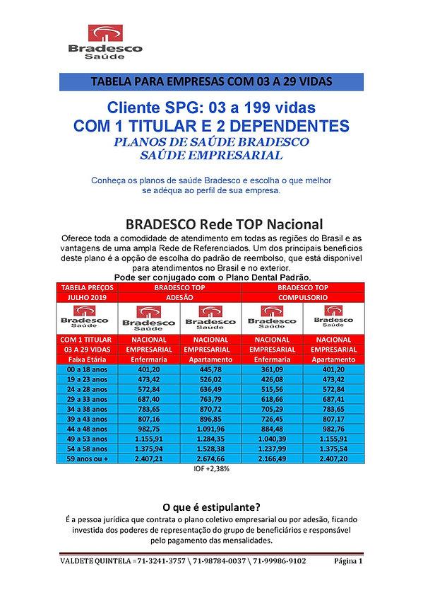 SPG 1 BRADESCO SAUDE TABELAS PARA EMPRES