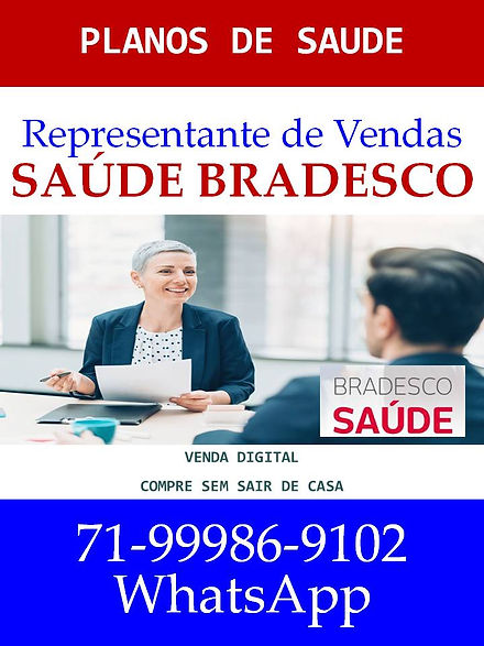 REPRESENTANTE DE VENDAS PLANO DE SAUDE B