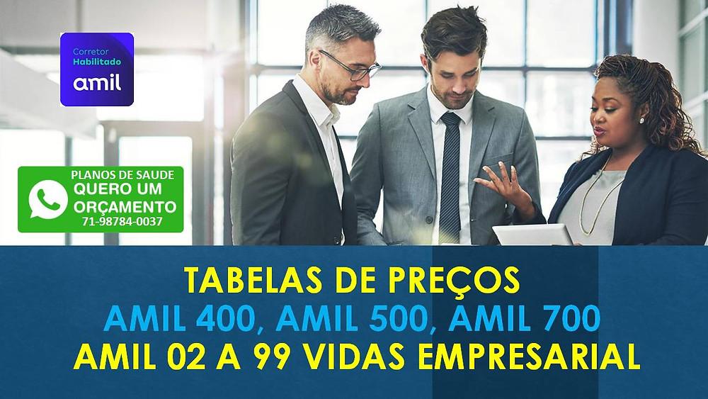Amil (BA) Tabelas 02 a 99 funcionários | Linha Classica