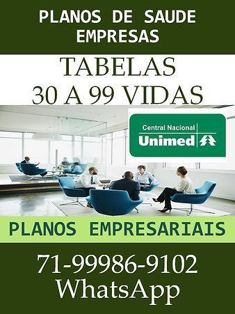 UNIMED - 30 A 99 VIDAS TABELAS DE PRECOS