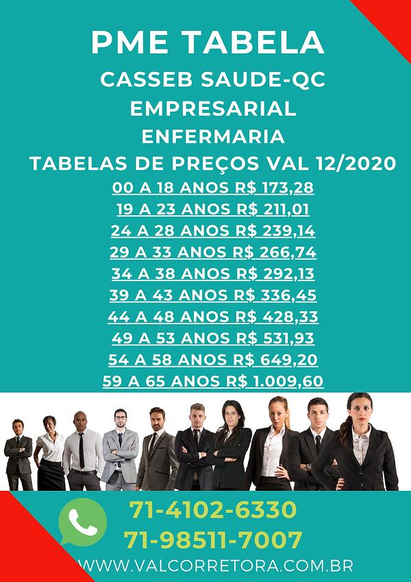 pme casseb empresarial tabelas