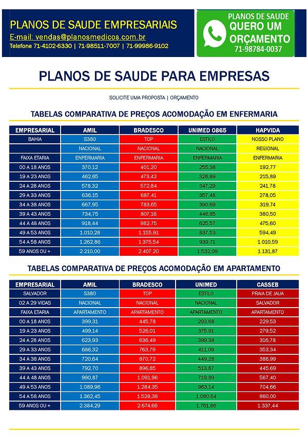 tabelas atualizadas planos empresariais-