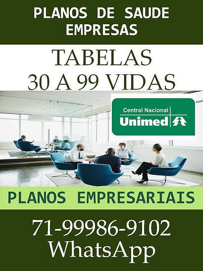 UNIMED - VALORES PLANOS DE SAUDE PARA EM