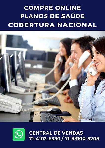 central de vendas planos de saude, CORRETORA VENDAS DE PLANOS DE SAUDE NACIONAL