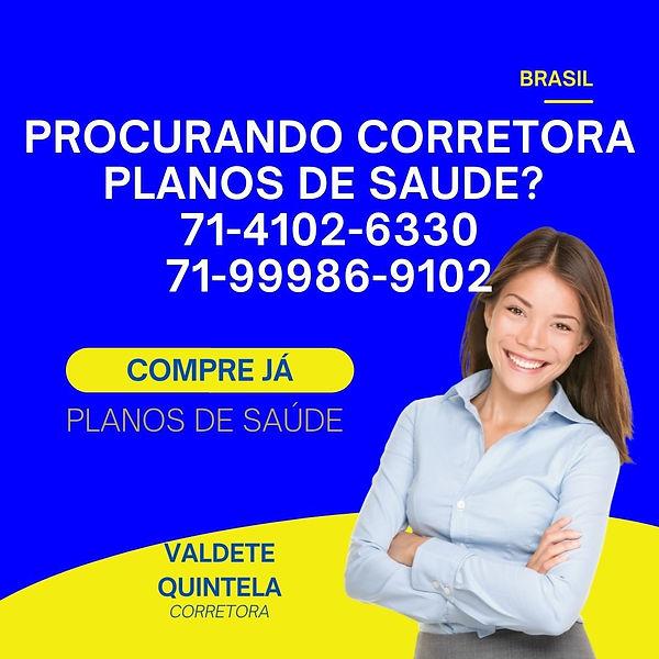 VALDETE QUINTELA, CORRETORA VENDAS DE PLANOS DE SAUDE