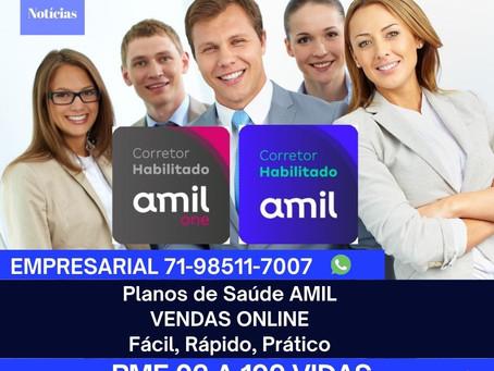 Corretor Amil Digital | PME 02 a 99 funcionários | Linha Selecionada