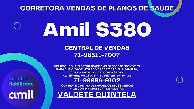TABELAS AMIL PLANOS DE SAUDE S380 em Maranhão