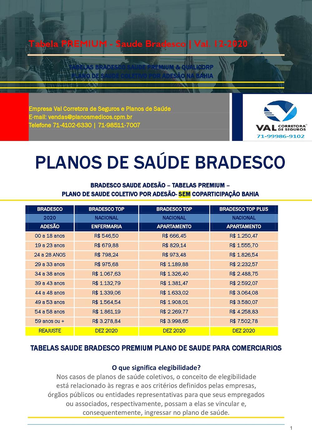 Tabelas de Preços - Planos de Saude BA