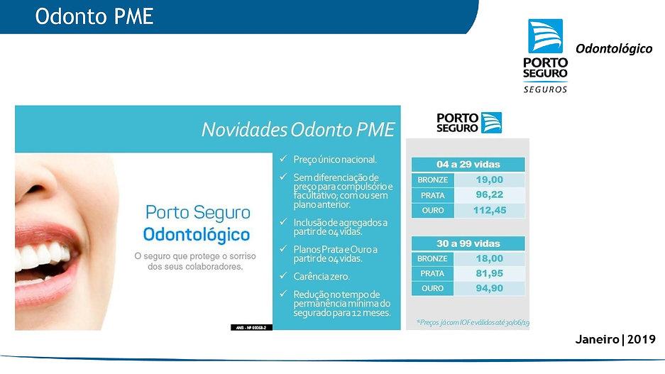 porto Seguro Odonto - Tabelas de Preços Plano Empresarial  Odonto