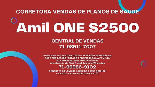 PLANOS DE SAUDE AMIL ONE S2500