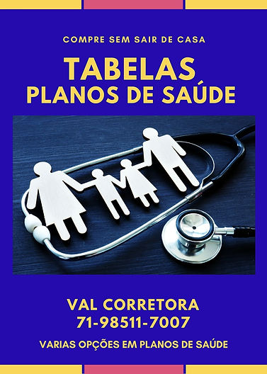 TABELAS DE VENDAS PLANOS MEDICOS