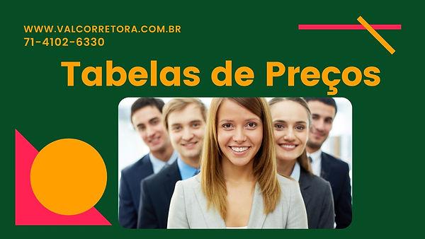 TABELAS DE PREÇOS PLANOS DE SAUDE BA