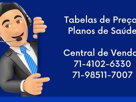 Tabelas Atualizadas Planos de  Saúde em Salvador