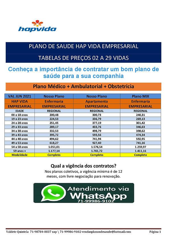 06-2021 HAPVIDA EMPRESARIAL - PLANOS DE SAUDE