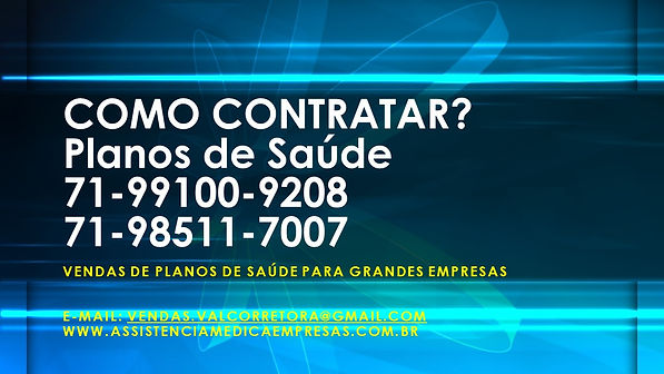 VENDAS PLANOS DE SAUDE - COMO CONTRATAR