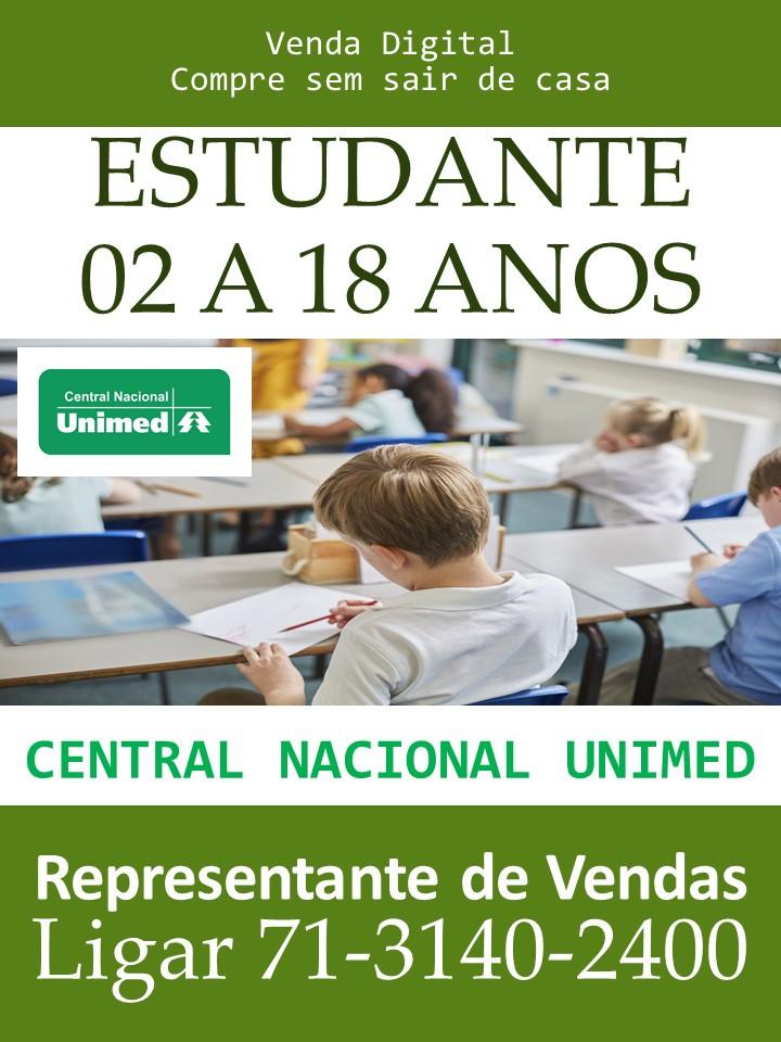 Unimed CNU 02 a 18 anos R$ 426,56 | Para Estudantes