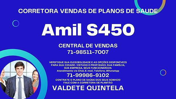 PLANO DE SAUDE EMPRESARIAL AMIL S450