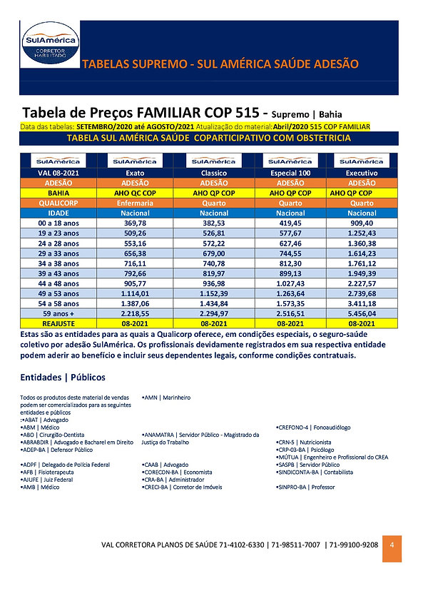08-2021_SUPREMO_SUL AMERICA_SAUDE_-_TABELA DE PRECOS SALVADOR